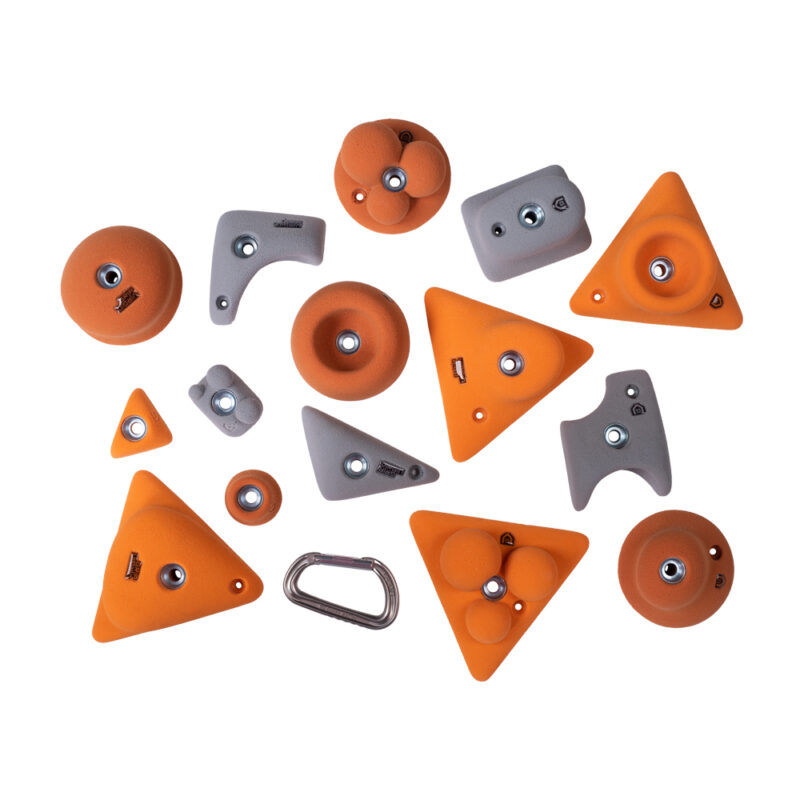 Children climbing holds unisex colour combination