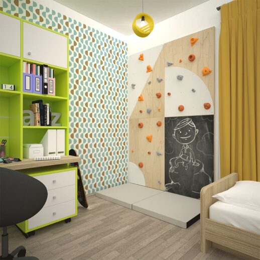 Climbing wall for children BLOCKids 4 children room