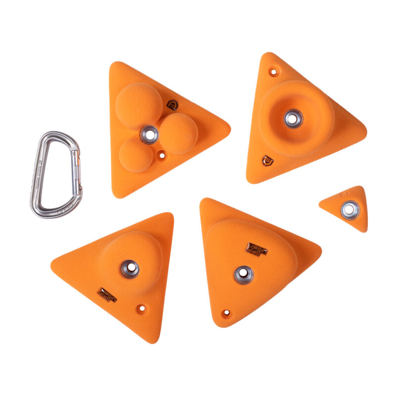 Climbing holds triangles