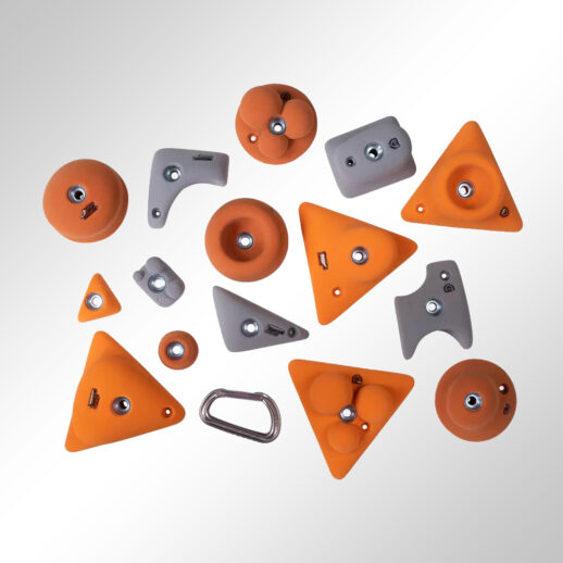 Children climbing holds